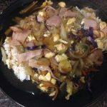 ハムと野菜のあんかけご飯